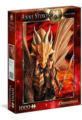 Puzzle 1000 Anne Stokes Inner Strenght Clementoni Iberica 39464