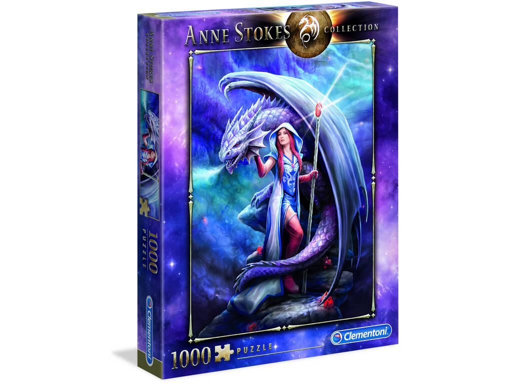 Puzzle 1000 Anne Stokes Dragon Mage Clementoni 39525