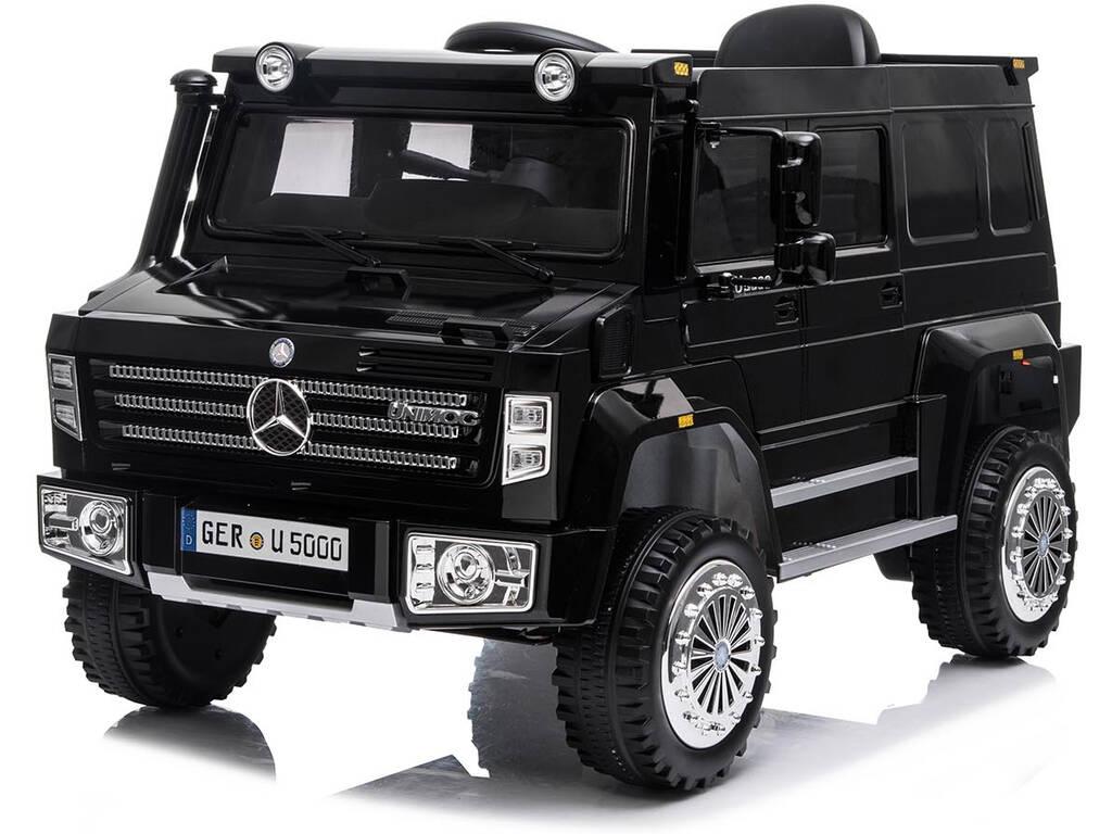 Camion Mercedes Benz Unimog U5000 Radio Control 6 v. Negro