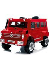 Camion à Batterie Mercedes Benz Unimog U5000 Télécommande 6 v. Rouge