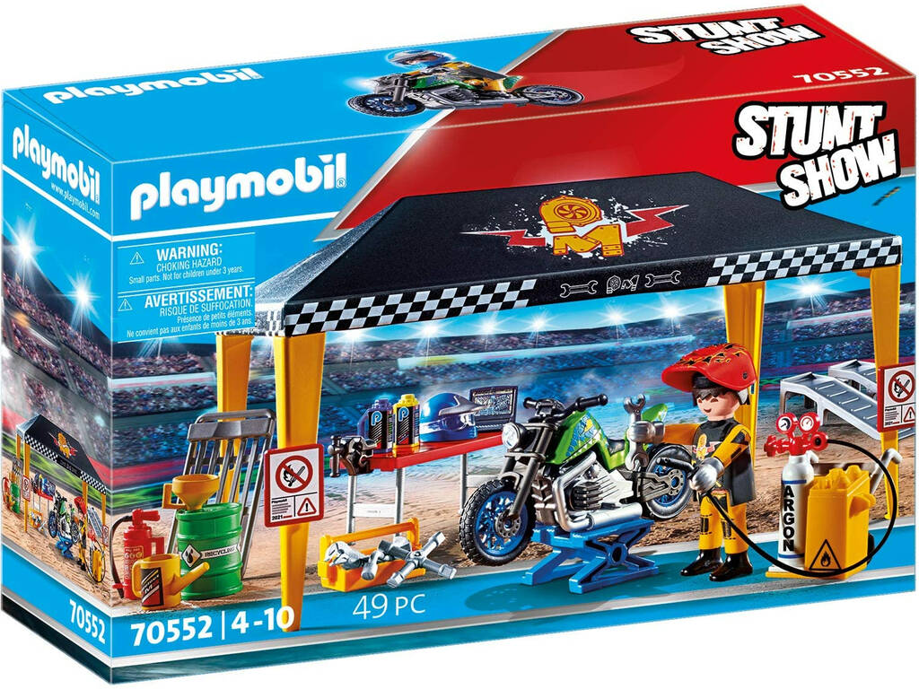 Playmobil Stuntshow Tienda Taller 70552