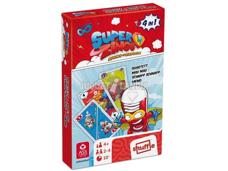 Superzings Baraja Cartas 4 En 1 Cefa Toys 684
