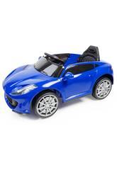 Auto Batteria Sportiva Radio Comandata Blu con Luce e Musica 6V. Radio Comando