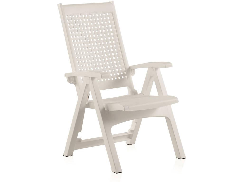 Muebles Jardín Sillón Multiposición Metal Blanco SP Berner 55350