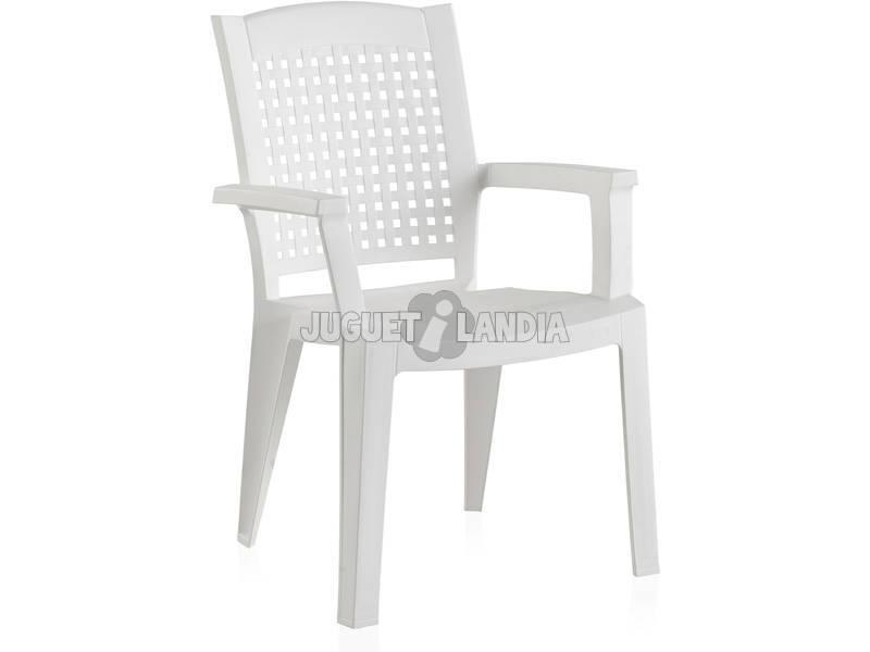 Muebles Jardín Silla Metal Blanca SP Berner 55154