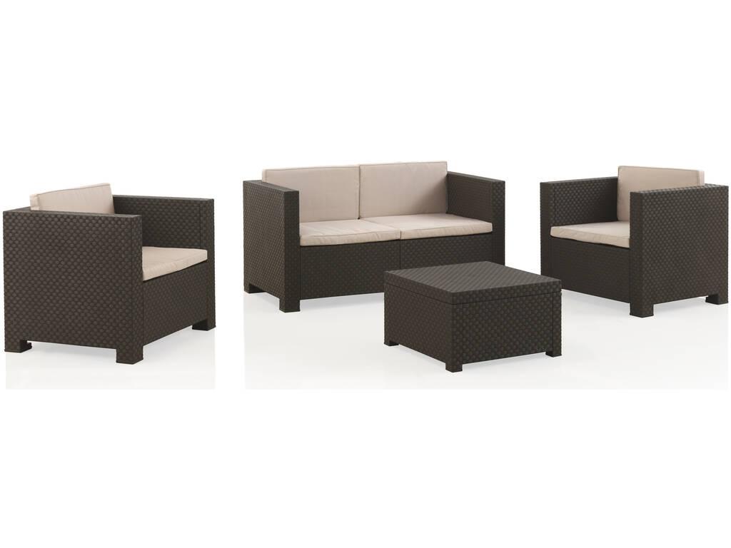 Muebles Jardín Set Diva Confort Wengué SP Berner 5000