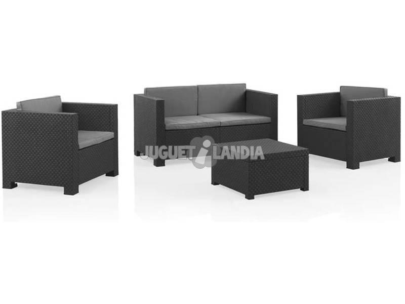 Muebles Jardín Set Diva Confort Grafito SP Berner 55440