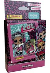 LOL Surprise! 4 Eco-blister avec 10 lots Panini 004017AE
