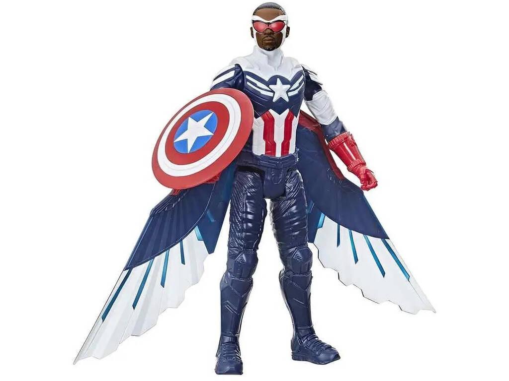 Avengers Figura Titan Hero Falcon Capitán América Hasbro F2075