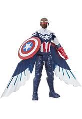 Avengers Figura Titan Hero Falcon Capitão América Hasbro F2075