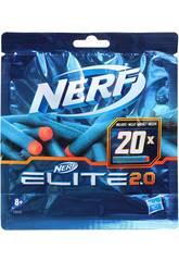 Nerf Elite 2.0 Pack de recharge de 20 fléchettes Hasbro F0040