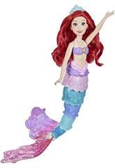 Muñeca Princesas Disney Ariel Cola Arcoíris Hasbro F0399