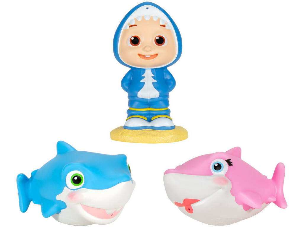 Cocomelon Figuras 2 Tiburones y JJ Bandai WT80126