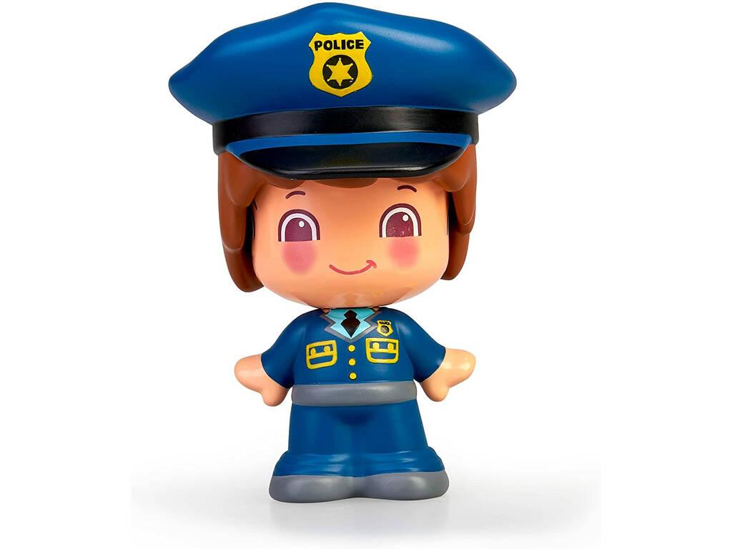 Figura Pin y Pon Profesiones Policia Famosa 700016289