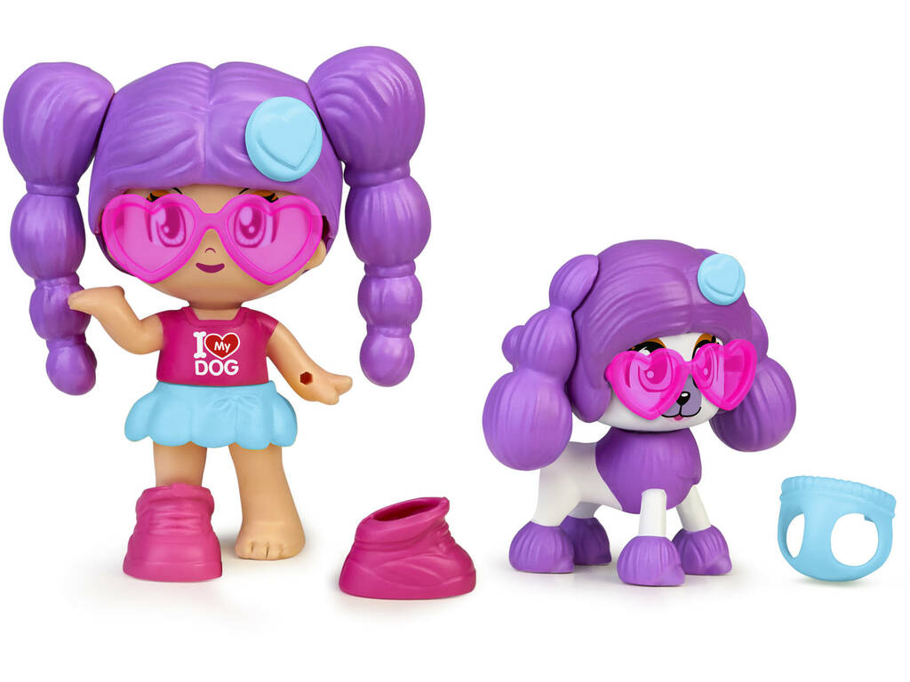 Pinypon My Puppy and Me Pelo Púrpura Famosa 700016243