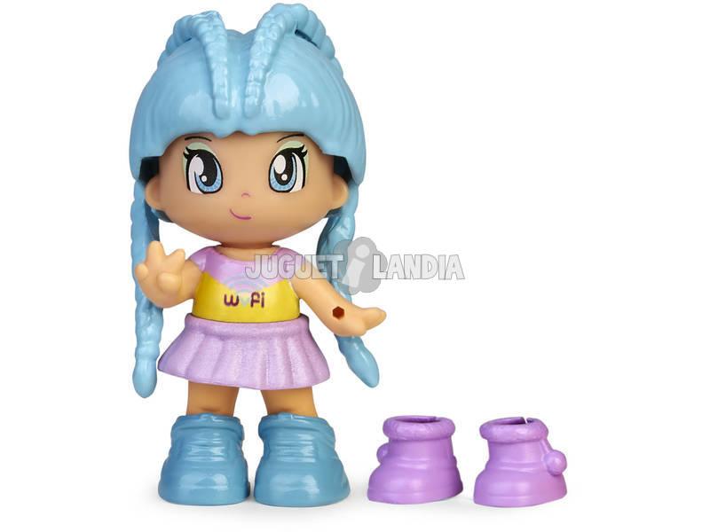 Pinypon Change My Shoes Figura Pelo Azul Famosa 700016209