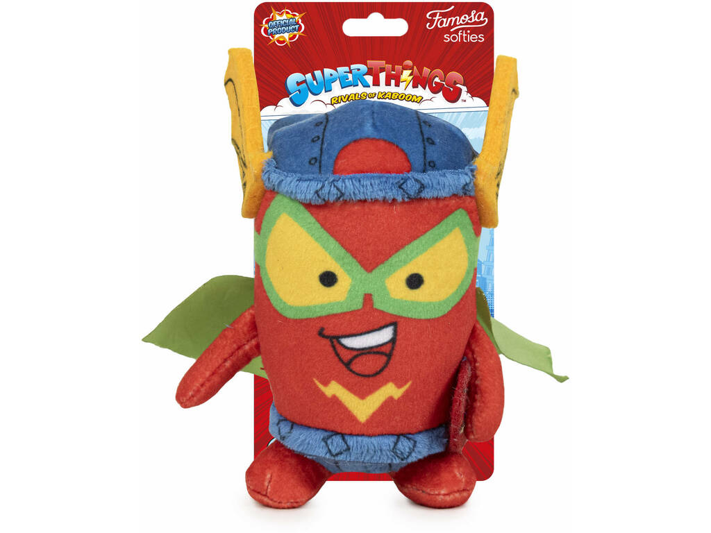 Superthings Peluche 12 cm. Kid Fury Serie 5 Famosa 760019496