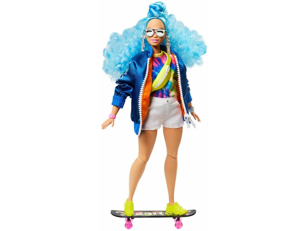 Barbie Extra Pelo Azul Rizado Mattel GRN30