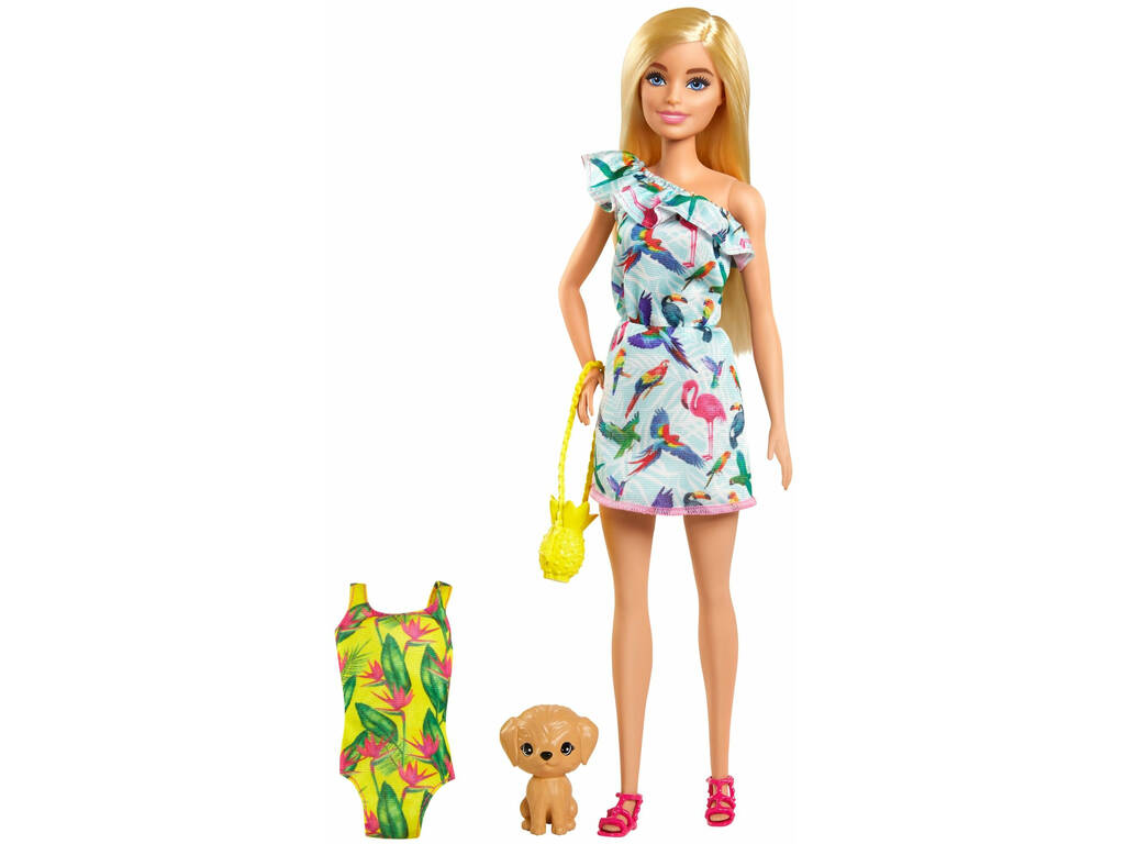 Barbie con Maleta y Accesorios Mattel GRT87