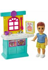 Barbie Skipper Boneco Bebé com Acessórios de Cozinha Mattel GRP16