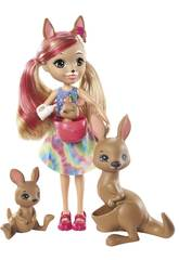 Enchantimals Familia Kangaroo Mattel GTM31