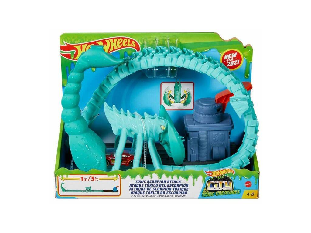 Hot Wheels City vs Toxic Creatures Ataque del Escorpión Tóxico Mattel GTT67