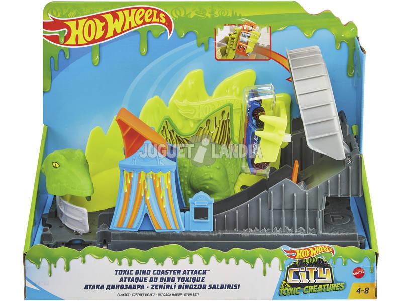 Hot Wheels City vs Toxic Creatures Ataque Tóxico a la Montaña Rusa Mattel GTT68