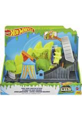 Hot Wheels City vs Toxic Creatures Attacco di montagne russe tossiche Mattel GTT68