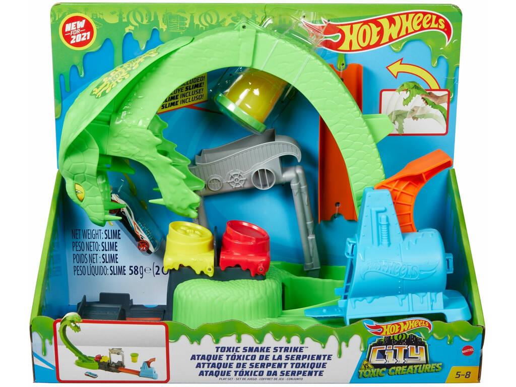 Hot Wheels City vs Toxic Creatures Cobra Ataque Tóxico Mattel GTT93