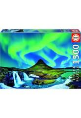 Puzzle 1.500 Aurora Boreal Islandia Educa 19041