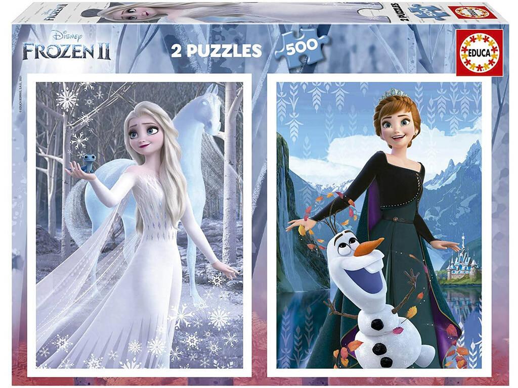 Puzzle 2X500 Frozen II d'Educa 19016