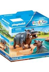 Playmobil Hipopotamo con Bebé 70354