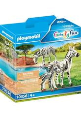 Playmobil Cebras con Bebé 70356