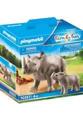 Playmobil Rinoceronte con Bebé 70357