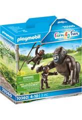 Playmobil Gorila con Bebé 70360