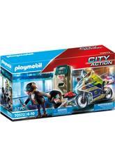 Playmobil City Action Moto Persecución del Ladrón de Dinero 70572