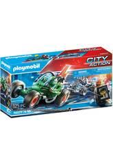 Playmobil City Action Kart Polizia Perseguimento Ladro della cassaforte 70577
