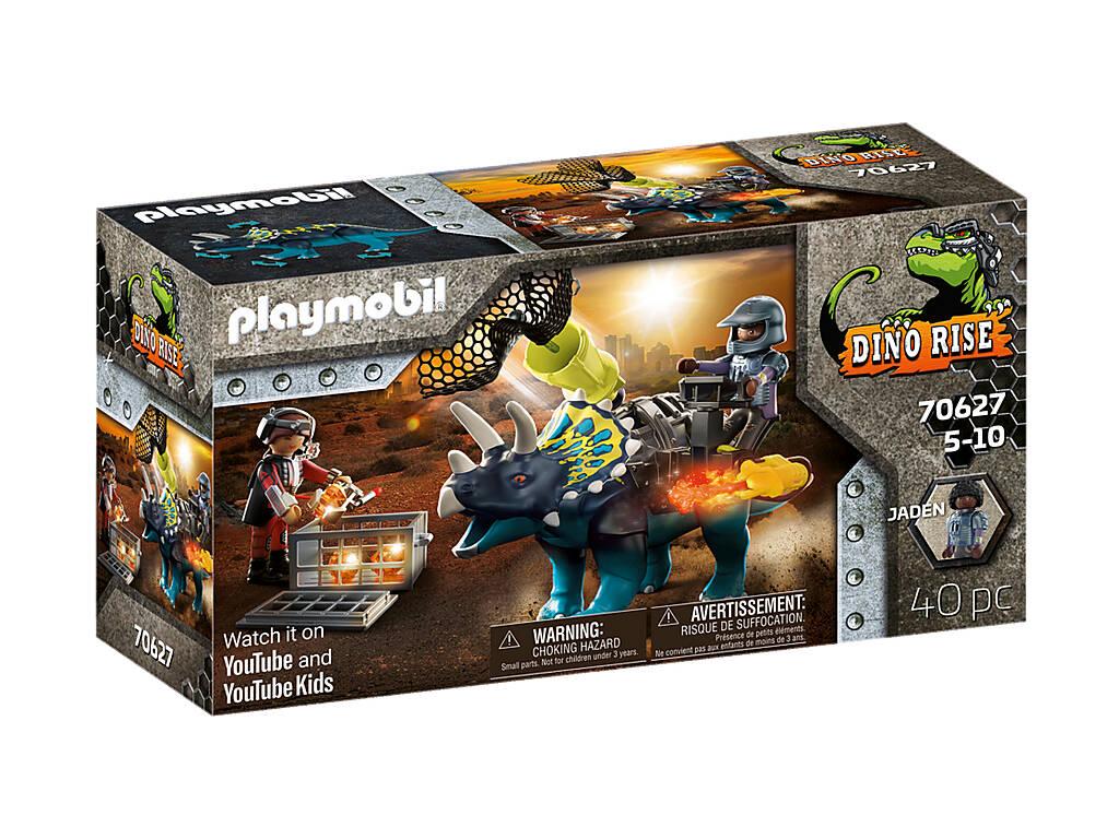 Playmobil Dinos Triceratops Émeute pour les pierres légendaires 70627