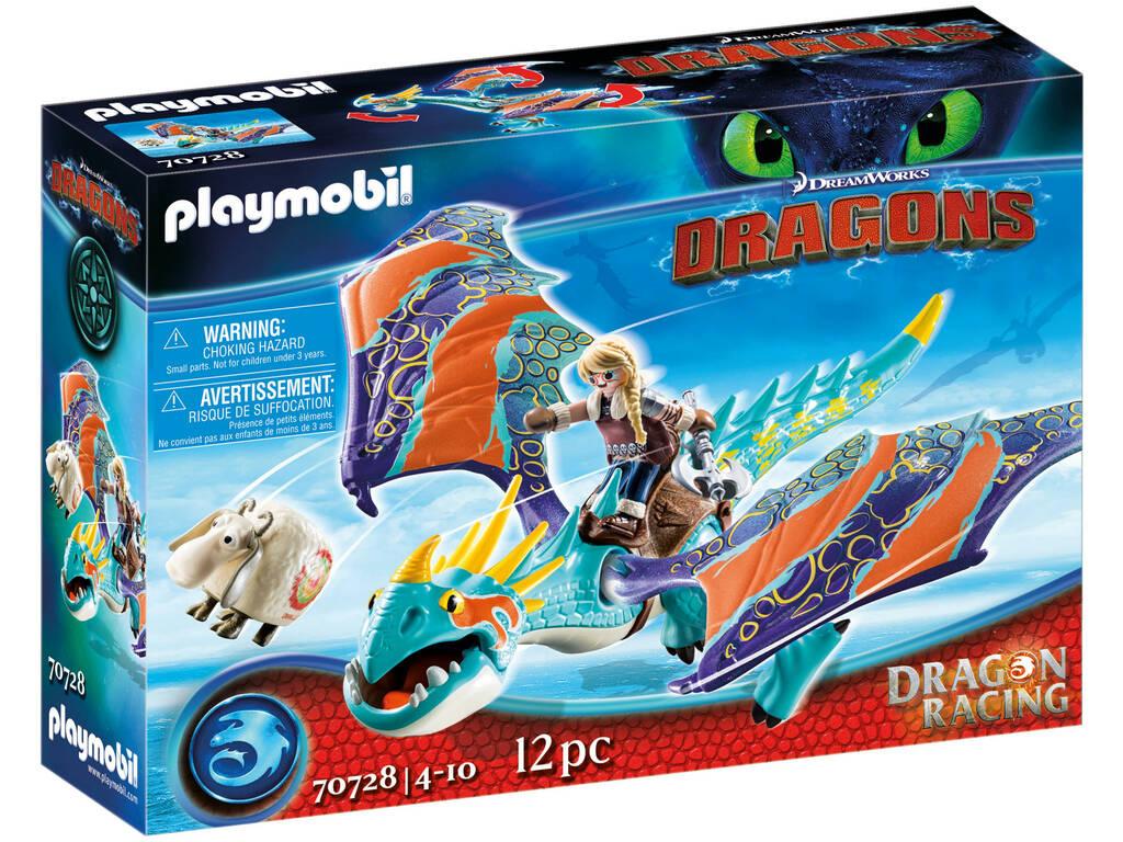 Playmobil Como Entrenar a Tu Dragón Racing Astrid y Tormenta 70728