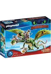 Playmobil Dragão Racing Dragão 2 Cabezas com Cabeça-Dura e Cabeça-Quente 70730