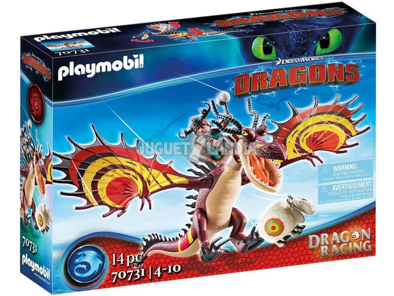Playmobil Cómo Entrenar a tu Dragón Racing Garfios y Patán Mocoso 70731