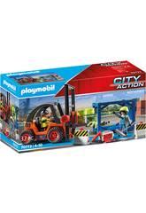 Playmobil City Action Carretilla Elevadora con Carga 70772