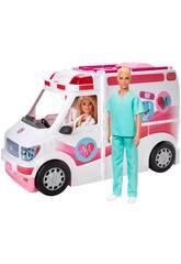 Barbie Véhicule Clinique pour Soins Mattel GMG35