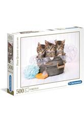 Puzzle 500 Kittens And Soap Clementoni 35065