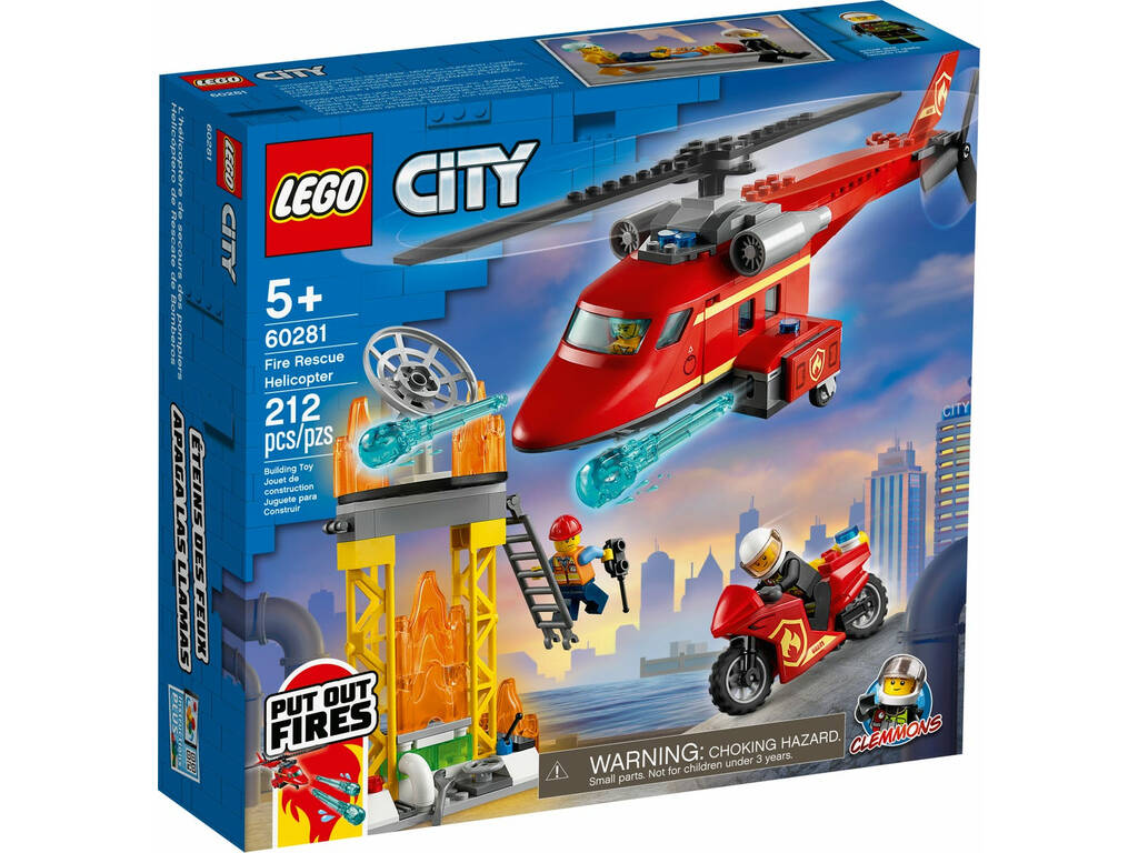 Lego City L'Hélicoptère de secours des pompiers 60281