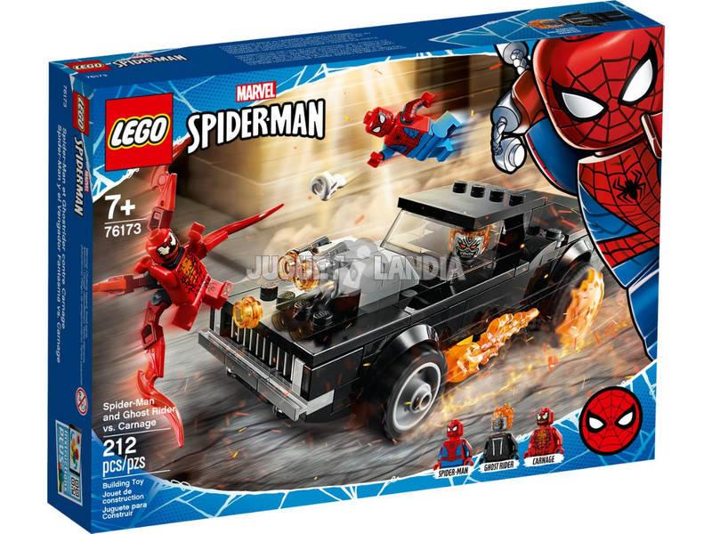 Lego Súper Héroes Marvel Spiderman y El Motorista Fantasma vs. Carnage 76173