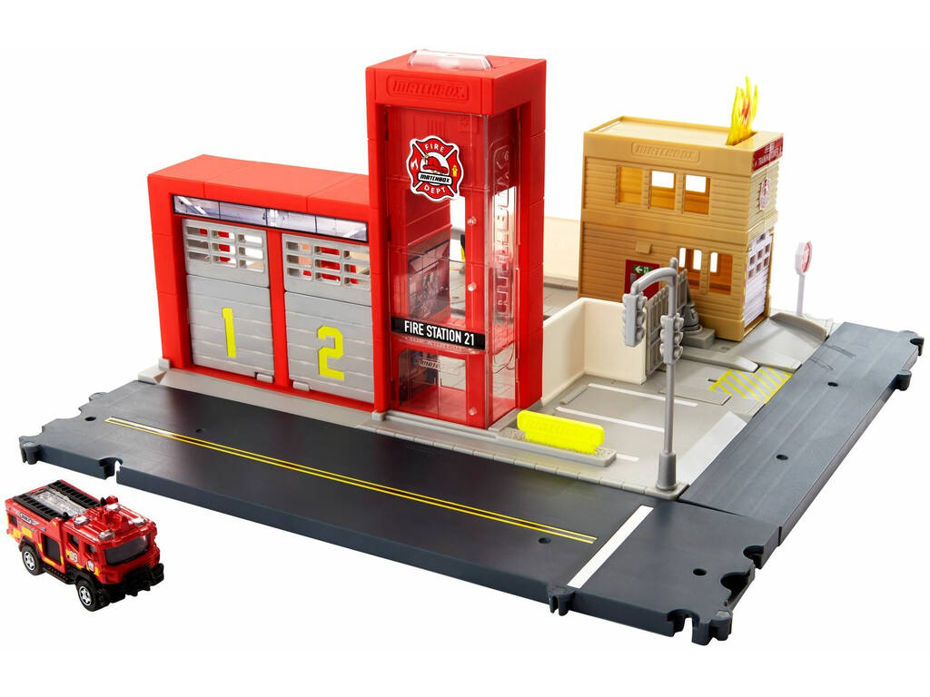 Matchbox Action Drivers Estación de Bomberos con Sonido Mattel HBD76