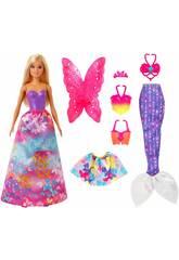 Barbie Dreamtopia Looks de Moda Mattel GJK40