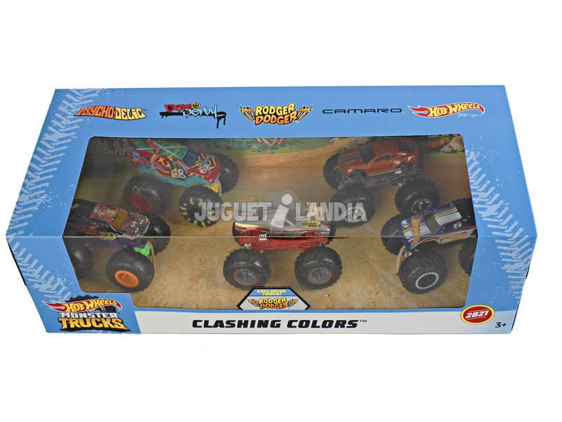 Hot Wheels Monster Truck Pack 5 Vehículos 1:64 Mattel GBP31