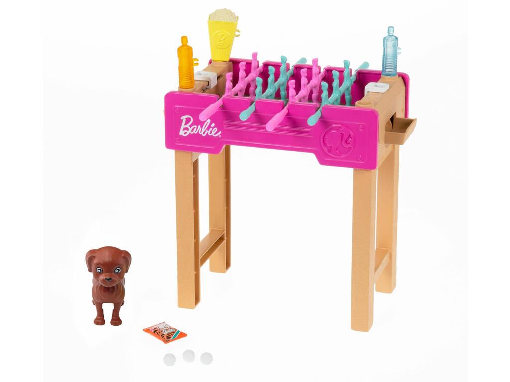 Barbie Mobiliario Exterior Futbolín Mattel GRG77